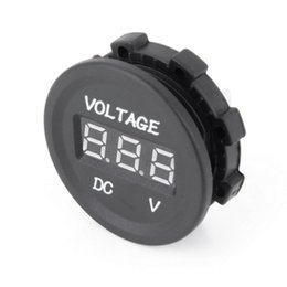 Chinese  Wholesale-12V-24V Car Motorcycle LED DC Digital Display Voltmeter Waterproof Meter New Arrival manufacturers