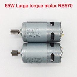 Wholesale 65W high torque 12v dc motor for children electric car,Faster and torque greater 570 motor,electric motorcycle high power engine
