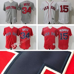 14daaab58d5 ... 15 Dustin Pedroia 100% Stitched Majestic Home Mens Boston Red Sox  Dustin Pedroia Majestic Alternate Navy Flex Base Authentic Collection  Player Jersey ...