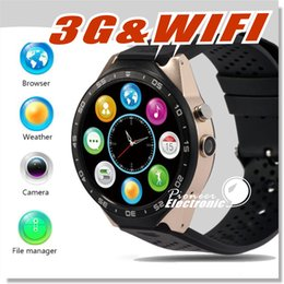 smart watch 3g sim card Canada - Smart watch KW88 3G Android 5.1 IOS watchs support 2.0MP Camera Bluetooth smartwatch SIM Card WiFi GPS Heart Rate Monitor