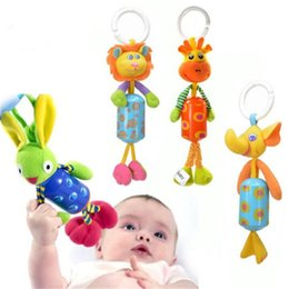 hanging baby toy wind chime Canada - Baby Stroller Stuffed Animal Crib Pendant Wind Chimes Infant Toy Learning Education Toys Animal Cotton Bed Hanging Baby Product