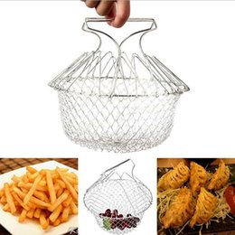 $enCountryForm.capitalKeyWord Canada - 2017 Hot Foldable Steam Rinse Strain Fry Chef Basket Strainer Net Kitchen Cooking Tool DHL Fedex Free Shipping
