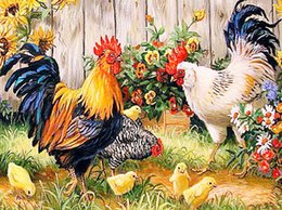 $enCountryForm.capitalKeyWord NZ - 5D DIY Animal Roosters Full of Diamond Painting Cross Stitch Kits Over drilling Wall Picture Home Decoration