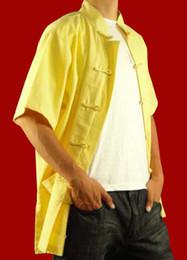 $enCountryForm.capitalKeyWord Canada - 100% Cotton Golden Kung Fu Martial Arts Tai Chi Shirt Clothing XS-XL or Tailor Custom Made