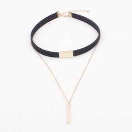 plain silver pendants Australia - 2016 Hot New Plain Black Velvet Ribbon Tassel Statement Necklace Pendant Maxi Multilayer Chokers Necklace Women Valentine's Day