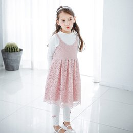 Barato Roupa De Verão Ocidental-Everweekend Girls Lace Ruffles Summer Halter Vestido Western Party Princess Childen Dress Sweet Fashion Baby Clothing