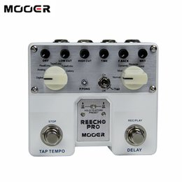 effect guitar multi delay NZ - MOOER Reecho Pro Digital Dedly Pedal Guitar Effects 6 delay effects Guitar effect pedal