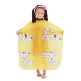 hair cutting capes children Canada - Kids Hair Cut Capes Salon Hairdressing Cape Professional Children Hair Cutting Clothes Beauty Kid Hair Clipper Capes Barber Capes for Baby