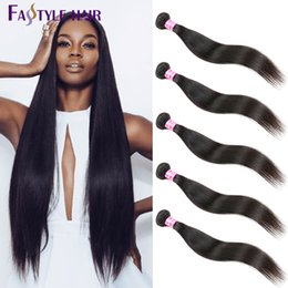 Discount top quality virgin indian hair - Hot Selling!Indian Straight Weave 5pc lot Top Quality Brazilian Peruvian Malaysian Unprocessed Virgin Hair Bundles Free