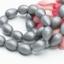 $enCountryForm.capitalKeyWord Canada - 9x13mm Fashion Silver Glass Pearl Beads Ornaments Drops Glass Pearl Beads Loose Shell Jasper Jewelry Making Design Women Gifts