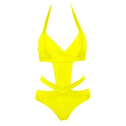 sexy plus size swim wear Australia - Trangel bikini Sexy One Piece Swimsuit Plus Size Swimwear Women Bandage Monokini Swimsuit Bathing Suit Swim Wear 2017 Black XXL
