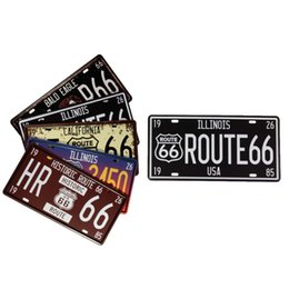 Wholesale Vintage Collectibles Route Tin Poster Metal License Plate Decor Metal Sign