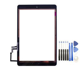 $enCountryForm.capitalKeyWord NZ - 10PCS Touch Screen Glass Panel Digitizer with Buttons Adhesive Assmembly for iPad Air with Tools Black and White