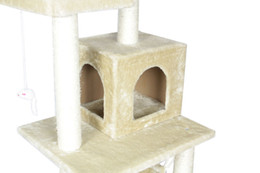 "Large Housing Australia - New Beige 57"" Cat Tree Condo Furniture Scratch Pet House"