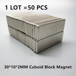 Neodymium Magnets Shipping Australia - Wholesale- Free Shipping 50pcs Strong Rare Earth Neodymium Magnets N35 30 x 10 x 2 mm