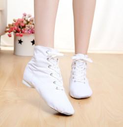 Unisex Ballet Flats Canada - 2017 cheap Top Modern Canvas Jazz Ballet Dance Shoes Split Heels Soft Sole Multicolor canvas jazz shoes For Men Women