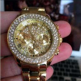97651b5c895 2017 Nova Alta Qualidade de Luxo Cristal De Diamante Relógios Mulheres  Relógio De Ouro De Aço Tira Espumante Vestido Relógio de Pulso Drop Ship  Relógio ...
