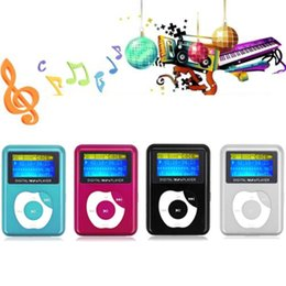 Barato Venda De Desenhos Digitais-Atacado HOT VENDA moda USB Digital MP3 Player de música LCD Screen Metal Suporte 32GB Micro SD TF Card Elegante design elegante Sport Compact