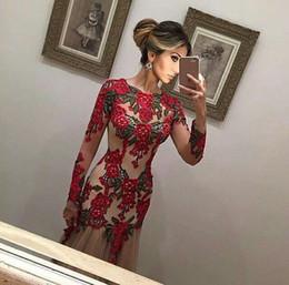 b2bde1e73982c9c Реальное фото абие красивое длинное вечернее платье с длинным рукавом с  вышивкой цветы Пром вечернее платье Vestido de Noche