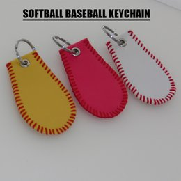 $enCountryForm.capitalKeyWord Canada - Baseball or Softball Stitch Keychain Gift Idea