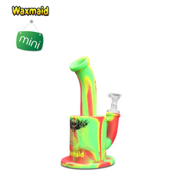 S Bend Pipe NZ - Origianl Waxmaid glass bowl bongs water pipes percolator invisible Magneto S Mini portable unbreakable smoking hookah Assorted Colors
