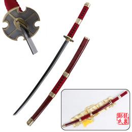 China Free Shipping 41 Inch -Anime One Piece Cosplay Zoro Sword Sandai Kitestu Real Steel Katana Christmas Prop Red suppliers