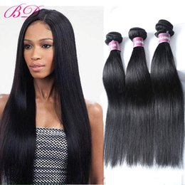 processed straight hair Canada - BD New Big Sale Cheap Human Hair Virgin Peruvian Straight Hair 3 4 Bundles One Set