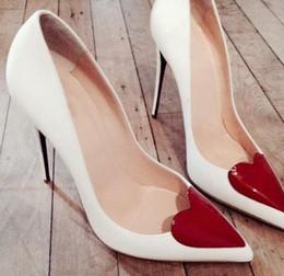 0168bc808f60 Women Party Heels Red Love Heart Front Embellished high heels Pointy toe 12  cm Stilettos Women fashion heels