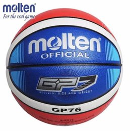 China Official Standard Size7 Molten GP76 PU Leather Indoor Outdoor Basketball Ball Training Equipment With Gift Of Ball Pin + Net bag cheap gift bag net suppliers