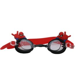 Gafas de natación a prueba de agua Niños Niños Niñas Spider DH Prevent Mist Gafas de natación de silicona de dibujos animados Color caramelo Swim Eyewear