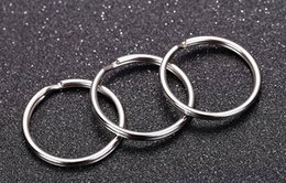 $enCountryForm.capitalKeyWord NZ - Hot selling 100pcs per lot 25x1.5mm key rings,metal arts and crafts,round alloy ring