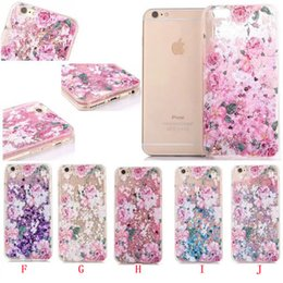 $enCountryForm.capitalKeyWord Canada - Liquid Unicorn Horse Flower TPU PC Hard Case For iphone 6 6S Plus 8 7 Fashion High Heel Bling Glitter Quicksand Skin Star Love Cover 60pcs