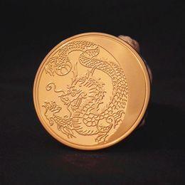 Russia Coin Canada - 2014 Russia Lunar Zodiac Dragon Gold Plated Commemorative Coin Token