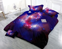digital twin Canada - Custom Drawings Can be Customized 3D Mysterious Starry Sky Digital Printing Cotton Satin 4-Piece Duvet Cover Sets Bedding Sets