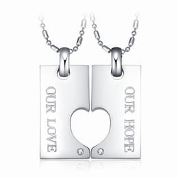 $enCountryForm.capitalKeyWord Canada - 2Pcs His and Hers Stainless Steel Puzzle Jigsaw Matching Couples Promise Pendant Necklace Set Valentines Gift