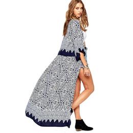 6bc1afbc64ee Scolour 2017 Ethinc Women Summer Shirt Vintage Floral Print Blouses Casual  Hippie Boho Kimono Cardigan Ladies Long Blusas Tops