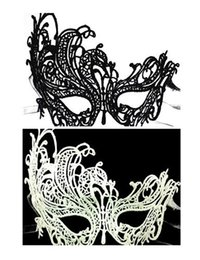 Exquisite Face Mask Australia - 2017 New Fashion Sexy Masquerade Halloween Exquisite Lace Half Face Mask For girl woman Black White Christmas Gift Disco