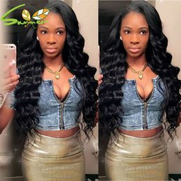 peruvian deep wave full lace wigs NZ - 8A Unprocessed Deep Wave Lace Front Peruvian Virgin Hair Wigs Human Hair Glueless Full Lace Wigs With Baby Hair For Black Women