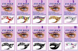 $enCountryForm.capitalKeyWord Australia - 10 designs Face Lace Eye Shadow Sticker Makeup Artistic Mask Club Party Cosmetics Face Mask Eyes Temporary Tattoos