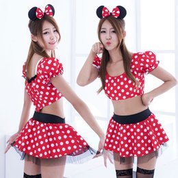 girls cartoon sexy dress NZ - 2017 Cosplay Costume Girls Cartoon Sexy Dress Lady's Princess Dresses Christmas Payty Dress With Bow Dot Halloween Costume,support drop ship