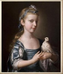 $enCountryForm.capitalKeyWord Canada - Framed Little girl with a bird,Pure Hand Painted Portrait Art Oil Painting On Canvas.Multi Sizes Available yx-pa