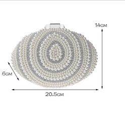 $enCountryForm.capitalKeyWord Canada - In Stock Bling Bling Silver Shell Beaded Pearls Clutches Double Handle Bridal Hand Bags Evening Party Prom Crystals Special Occasion Bags