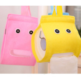 Paper Roll Holders Australia - Wholesale- Fashion Lazy Style Home Office Car Decor Tissue Box Toilet Bathroom Paper Holder