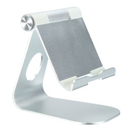 Wholesale- Universal PhoneTablet PC Holder Stand For iPad Mini High Quality Aluminum Desktop Adjustable Stand Holder Mount For iPhone