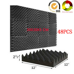 "insulation wall panels Australia - 48PCS ""Egg Crate"" Acoustic Foam Soundproof Panels Recording Studio Pro Audio Convoluted Sound Treatments insulation Wall Tiles Board 2"""