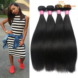 best tangle hair weave 2019 - Grade 8A Malaysian Virgin Hair Straight Weaves 4Bundles Malaysian Straight 100% Human Hair Bundles Ali Queen Hair Best Q