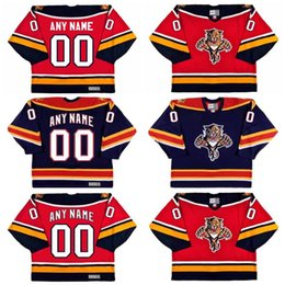 Discount florida numbers - Florida Panthers Jersey Customized with any name & number Hockey Jerseys Personalized All Stiched Freeshipping
