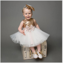 Wholesale kids sequined vests resale online - 2017 Fashion Girls Sequined Princess Dress Cute Girl Lace Gauze Tutu Dresses Kids Sleeveless Vest Stitching Dress Children Birthday Dresses