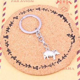 pig ring fashion NZ - Fashion Keychain Pig Charm Key ring Accessory Bag Car Key Chains Ring Holder Wen Women Jewelry