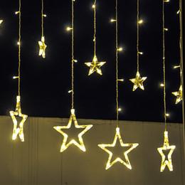 String Red Star Lights NZ - LED String 2M fairy light 110V 220V curtain lamp star curtain lights christmas Xmas wedding party halloween decoratio twinkle lighting